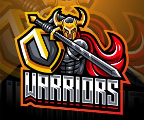 Warriors game icon design vector