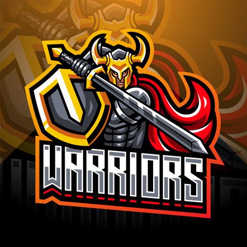 Warriors game icon design vector