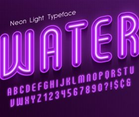 Water and alphabet illustrator text style effect vector