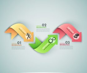 Wave templates of Infographics vector