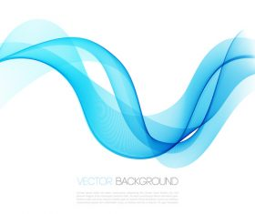 Waves blue abstract background vector