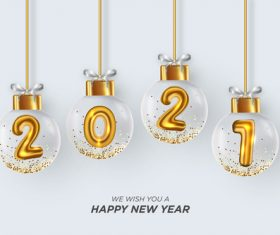 We wish you happy new year card vector