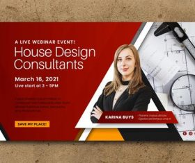 Webinar banner invitation template vector