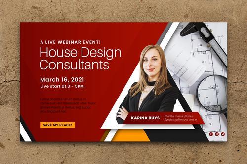 Webinar banner invitation template vector