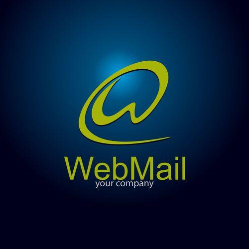 Webmail logo design vector
