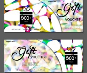 White blue gift card voucher vector
