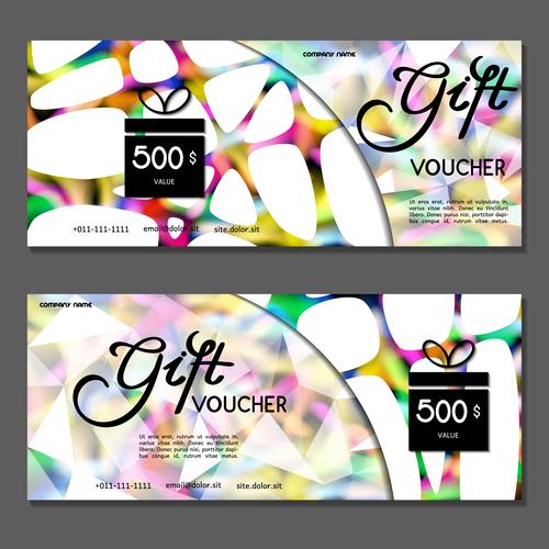 White blue gift card voucher vector