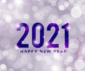 White blurred 2021 new year background vector