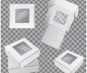 White packaging box vector