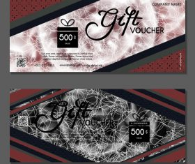 White silk thread background gift card voucher vector