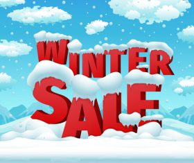 Winter promotion illustration vector