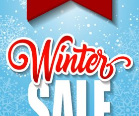Winter sale inscription vector