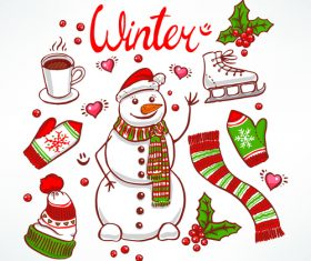 Winter set vector