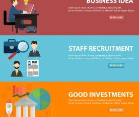 Work information banner vector