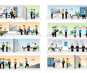 Working time cartoon vector