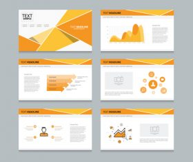 Yellow chart information vector