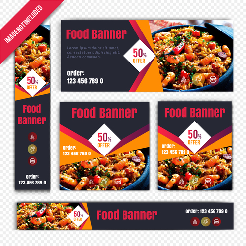 Yummy food poster vector