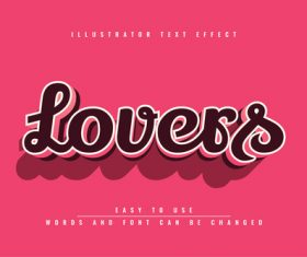 3d brown style text effect vector