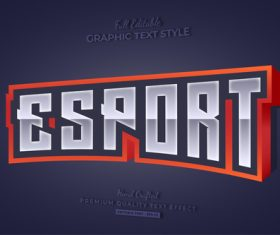 3d graphic text style vector