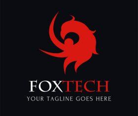 Abstract animal logo design vector