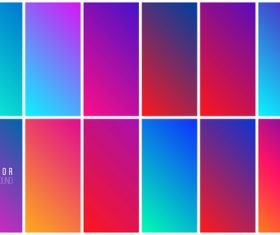 Abstract colorful background collection vector