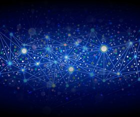 Abstract network background vector