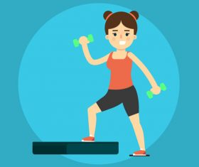 Aerobics exercise icon vector