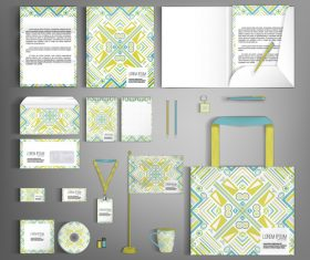 Art cover corporate stationery collection vector