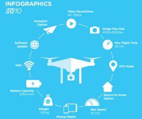 Assembled drone illustration vector