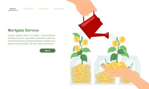 Asset appreciation concept illustration vector