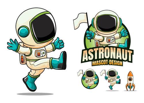 Astronaut mascot design vector