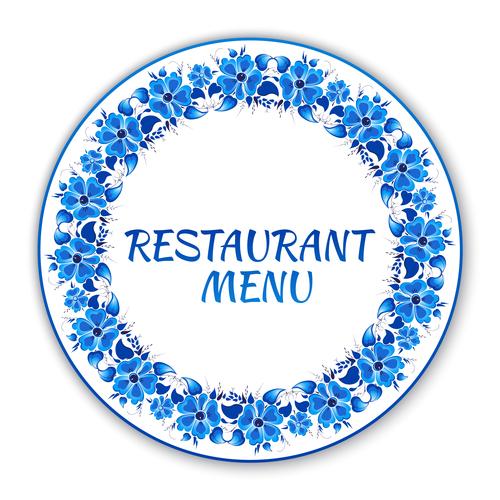 Backgrounds for restaurant menu in vector
