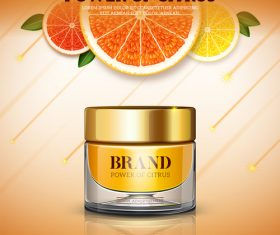 Bank cream citrus vector