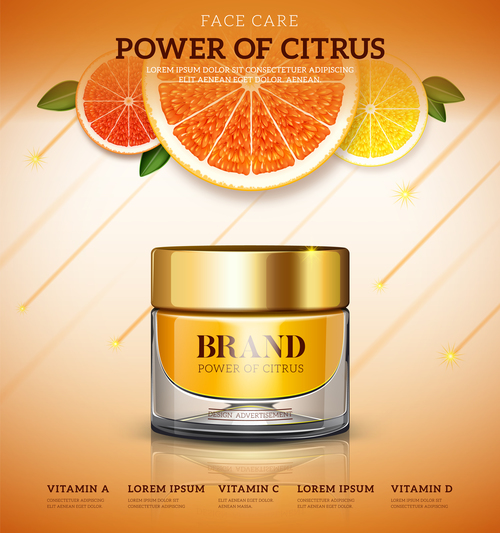 Bank cream citrus vector