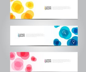 Banner colorful circle vector