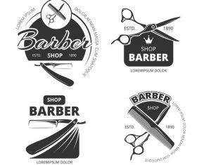 Barbershop emblem vector