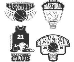 Basketball club emblem vector