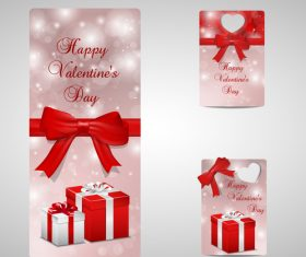 Beautiful Valentines day label design vector