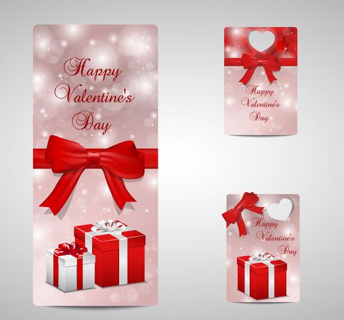 Beautiful Valentines day label design vector