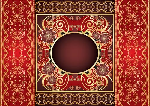 Beautiful decorative vector background