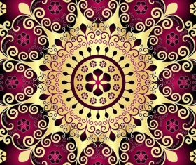 Beautiful pattern decoration vector