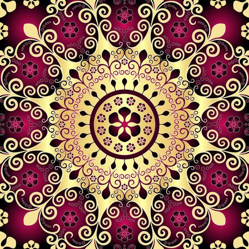 Beautiful pattern decoration vector