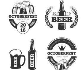 Beer emblem vector