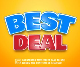 Best deal 3d text style effect vector