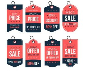 Best sale flat label design vector