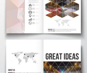 Bi-fold brochure vector