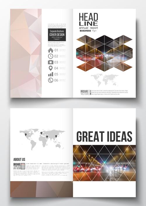 Bi fold brochure vector