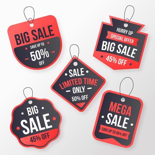 Big sale flat label design vector