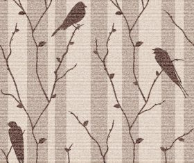 Birds on branch vector background