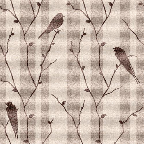 Birds on branch vector background